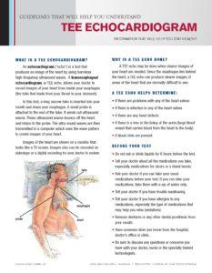Tee Echocardiogram Tearpad